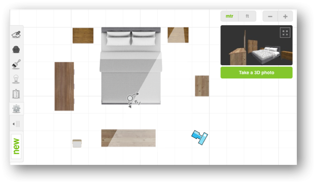 Roomstyler 3D Home Planner view