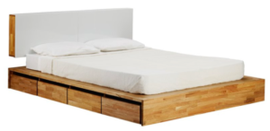 Solid platform bed