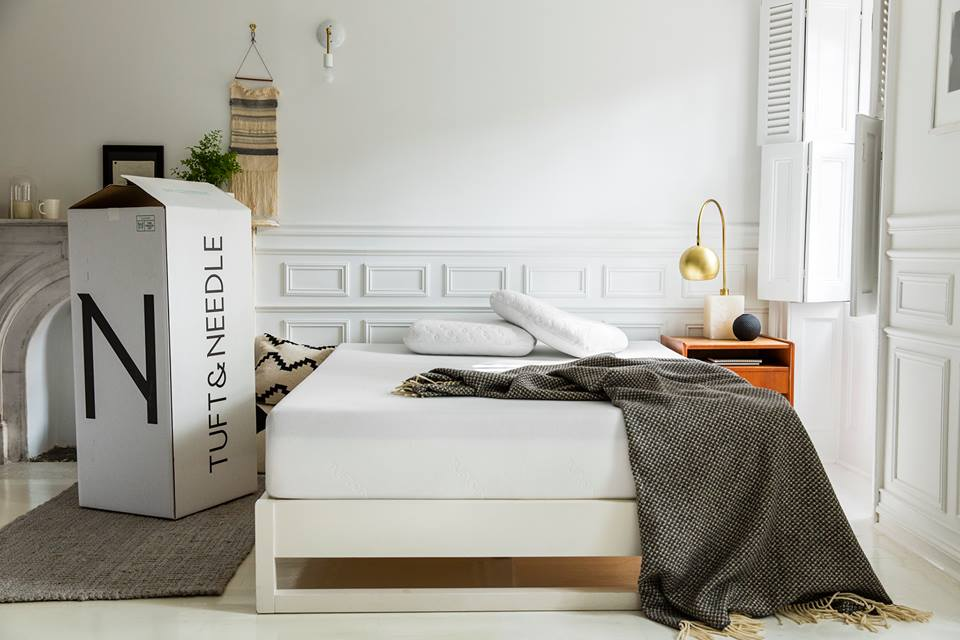 Tuft and Needle mattress in a bedroom