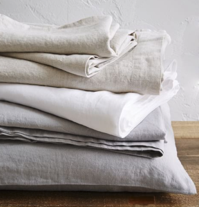 West Elm linen sheets
