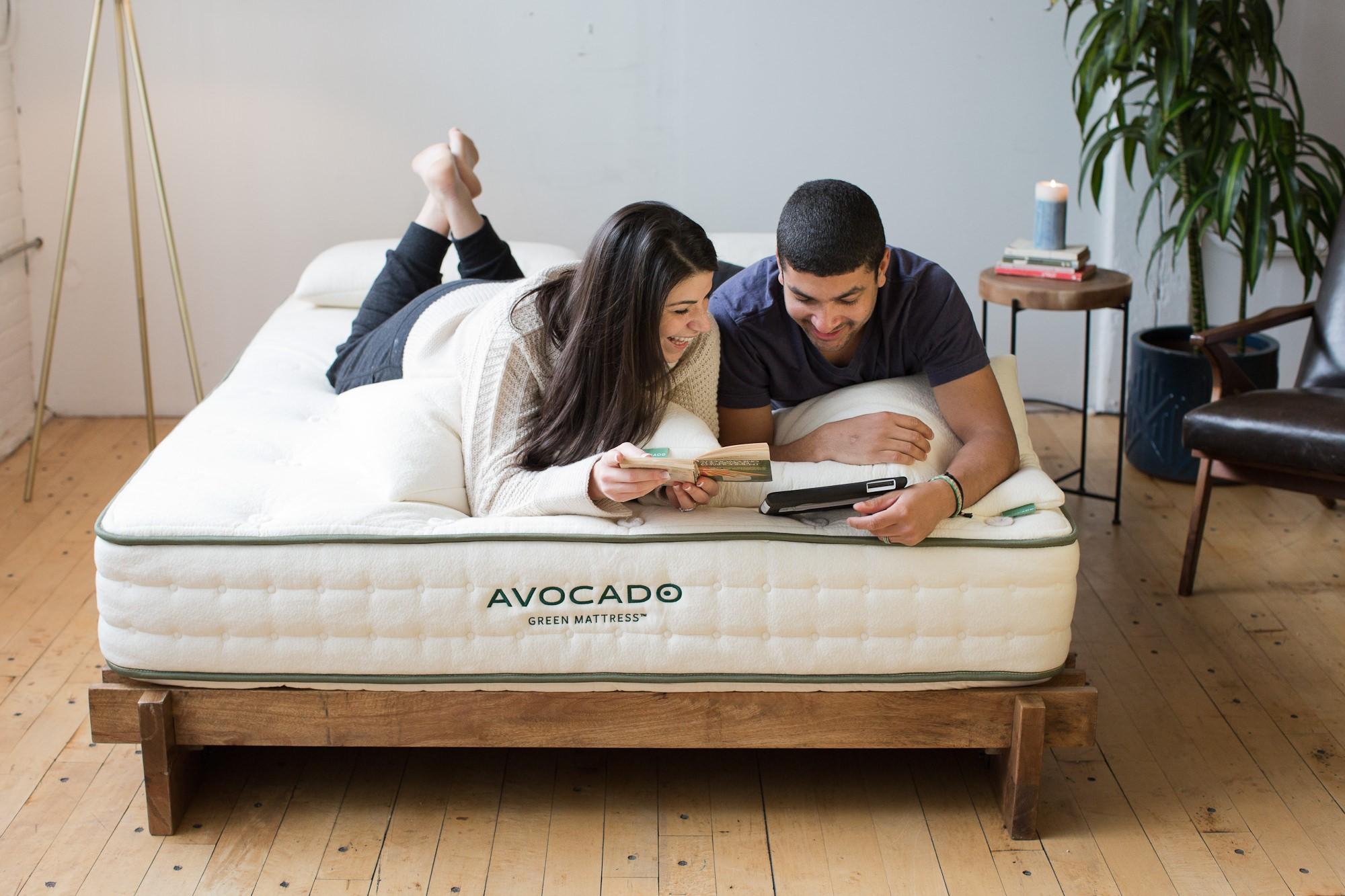 Avocado mattress in bedroom