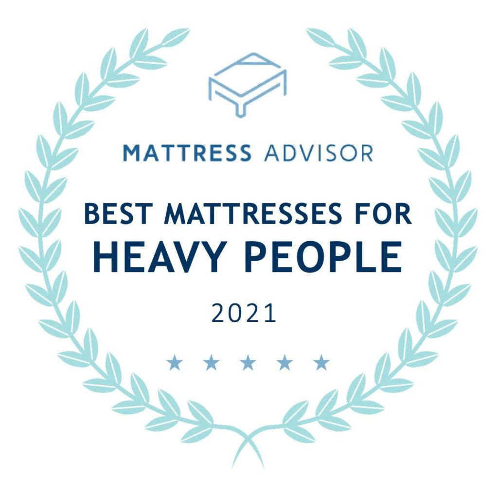 best mattress for heavy people badge