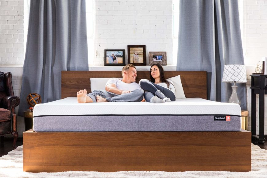 Couple on Yogabed mattress