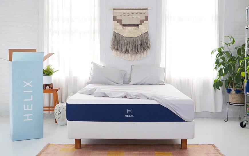Helix mattress in bedroom scene