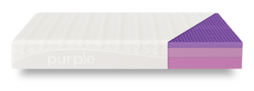 Cross-section of the Purple mattress layers