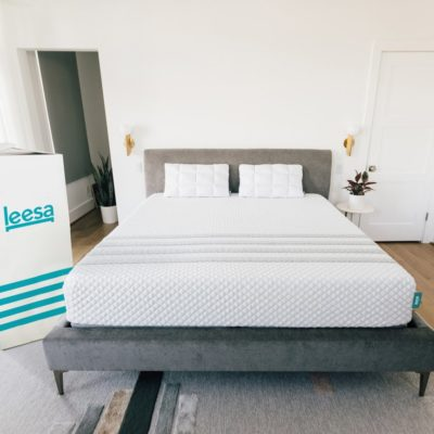 Leesa hybrid mattress in a bedroom