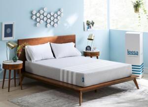 Leesa mattress in a bedroom