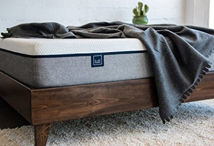 Lull mattress on a wooden bed frame