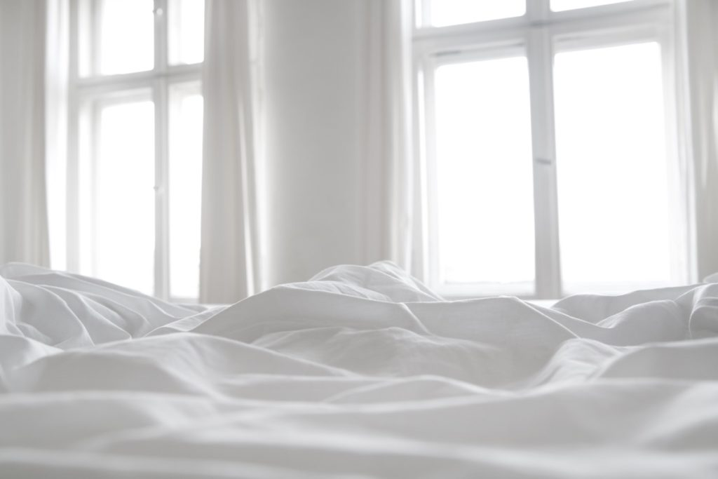 sheets by a window