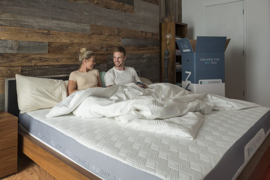 nuvanna mattress in bedroom with couple on it