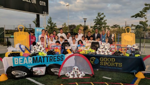 Bear Partners with Good Sports to Donate $30,000 in Equipment to Jersey City Soccer Program (hMag)