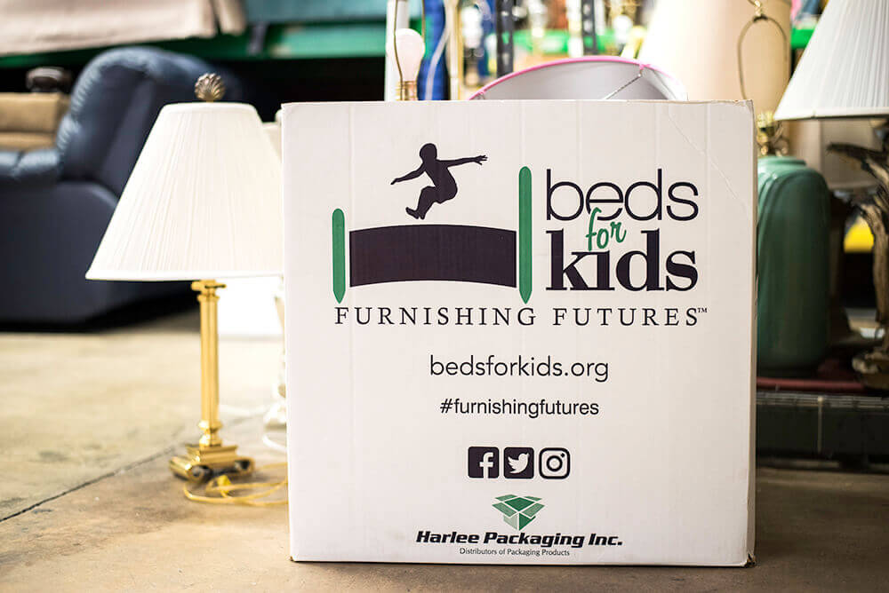 Beds for Kids donation box