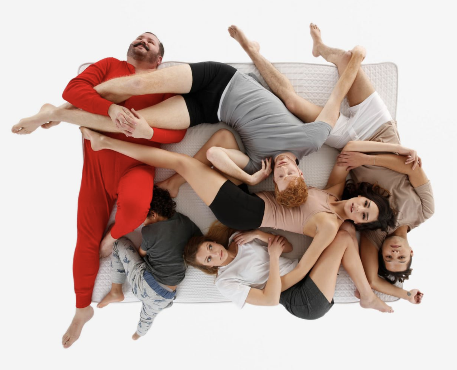 Group on people on the Tuck mattress