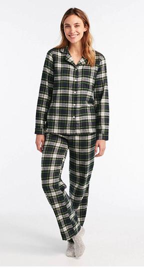 LL Bean Scotch Plaid Flannel Pajamas