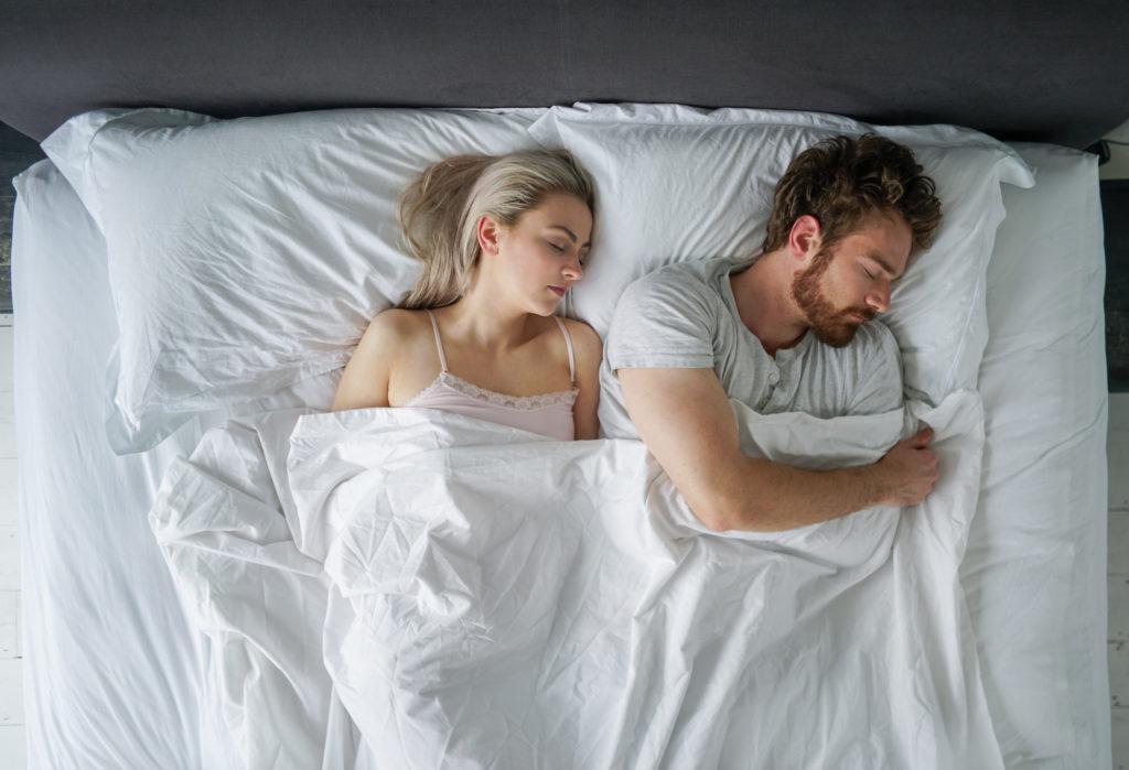 sleeping couple positions