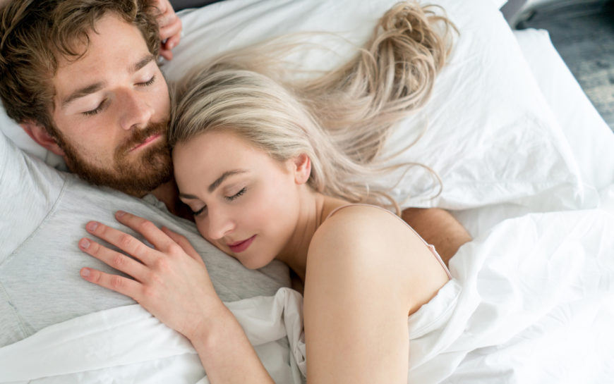 Sex with a sleeping partner