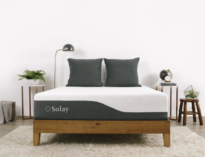 Solay mattress in bedroom
