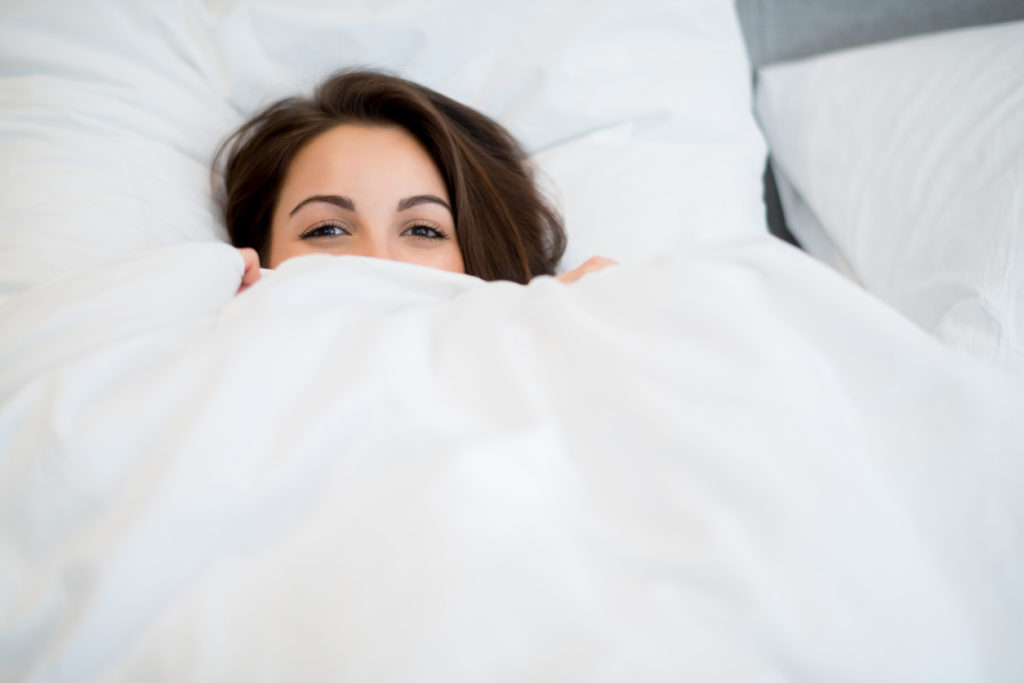 hiding under sheets
