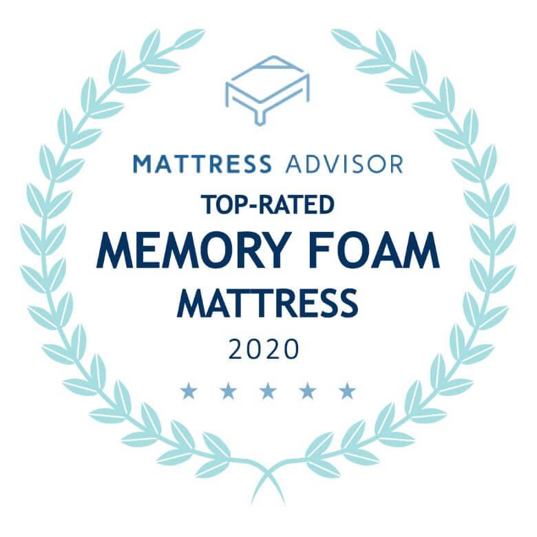 top memory foam mattress badge