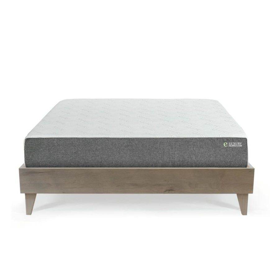 e luxury mattress on bed frame