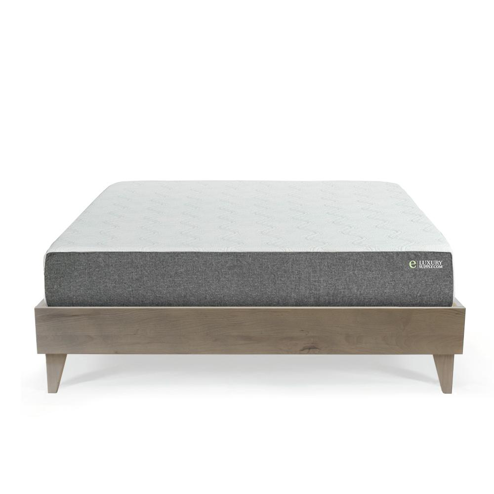 e luxury mattress on bed frame