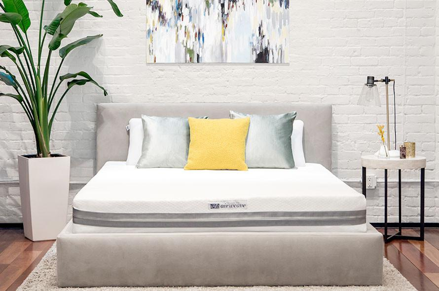 airweave mattress on a bed frame in a bedroom