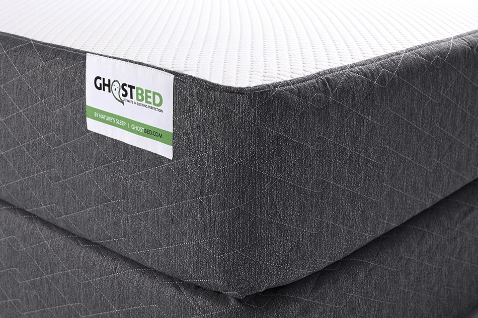 Closeup of the Ghostbed mattress review