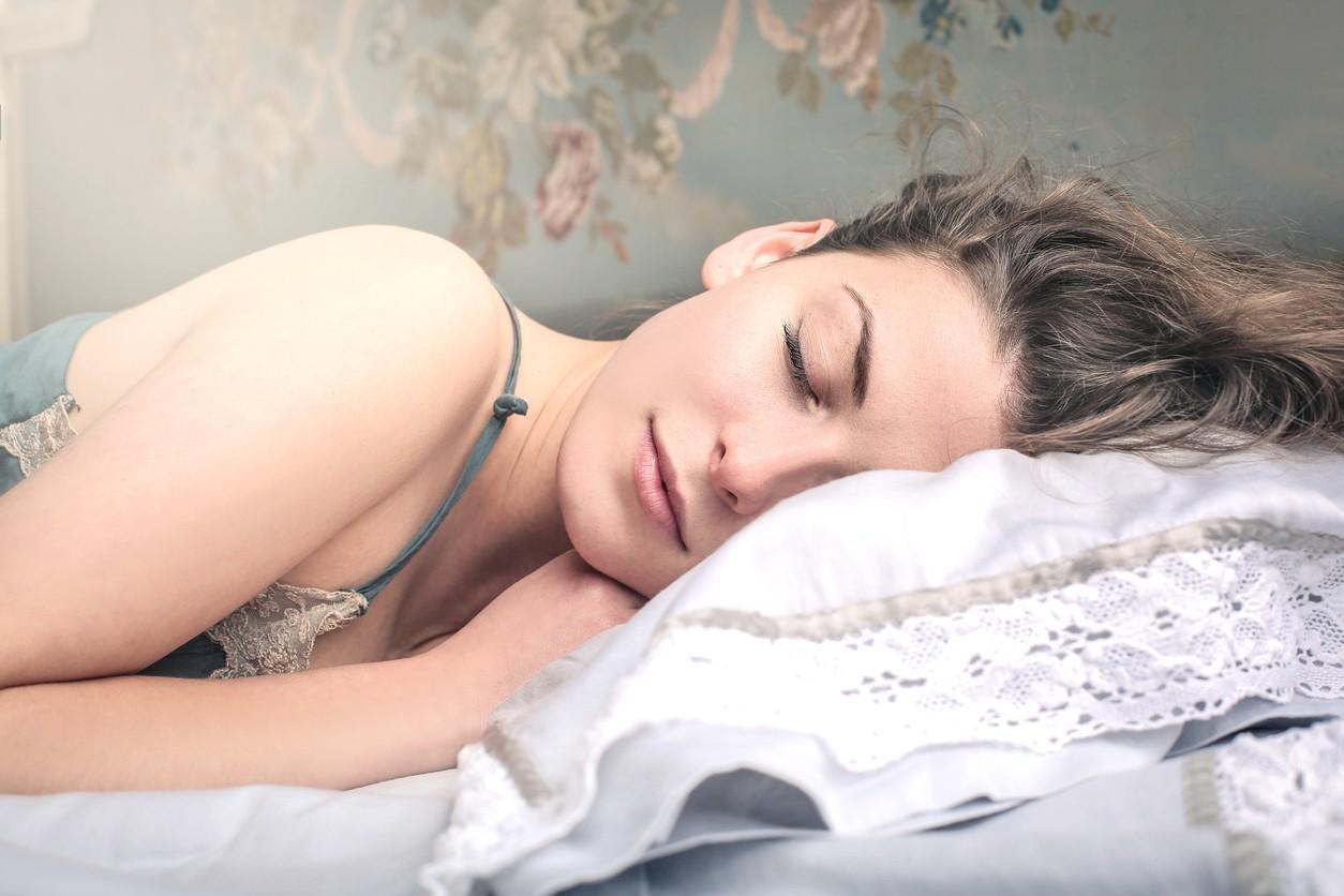 Beautiful, young woman is sleeping