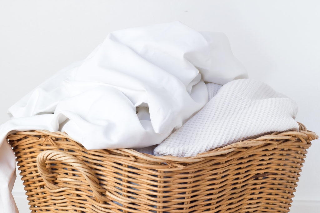 Pile of fitted sheets