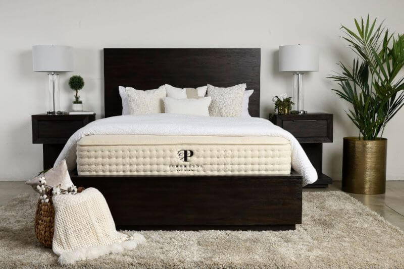 Plushbeds Botanical Bliss mattress in a bedroom