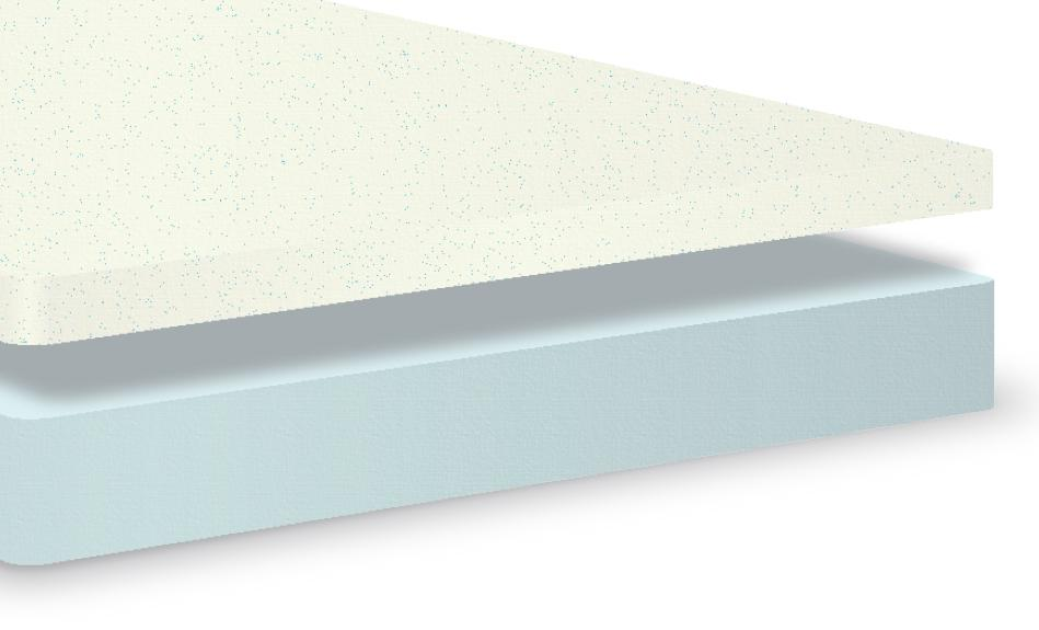 Inside the eLuxury 10'' gel memory foam mattress
