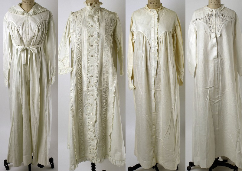 Sleepwear, 1821 to 1863