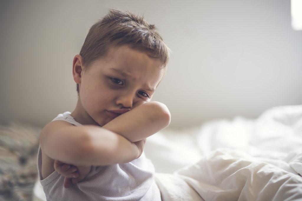 cranky young boy