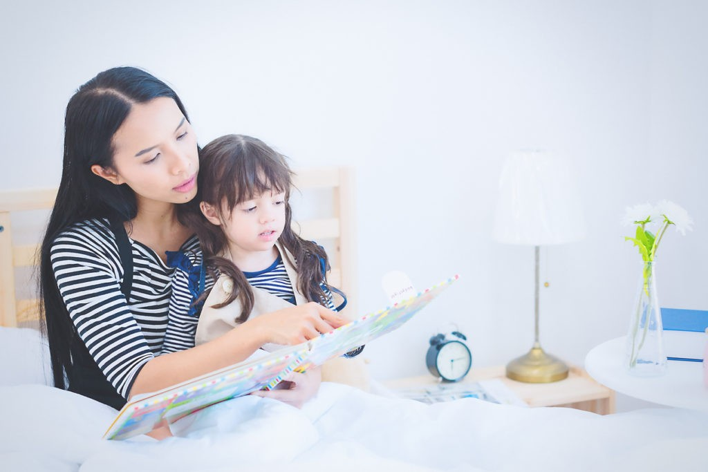 reading bedtime story