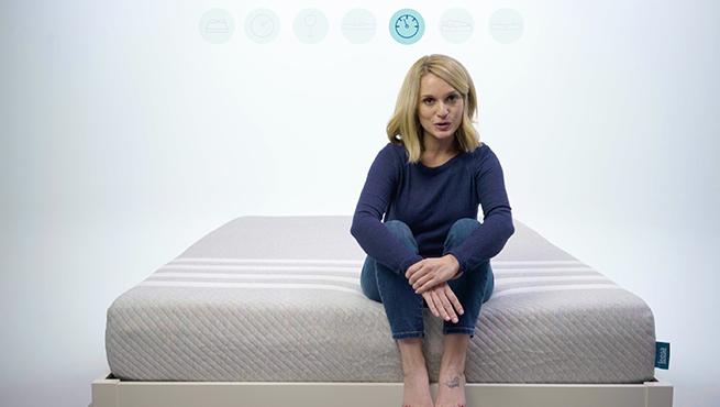 Leesa mattress test video still