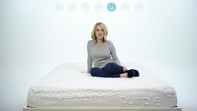 Purple mattress test video still