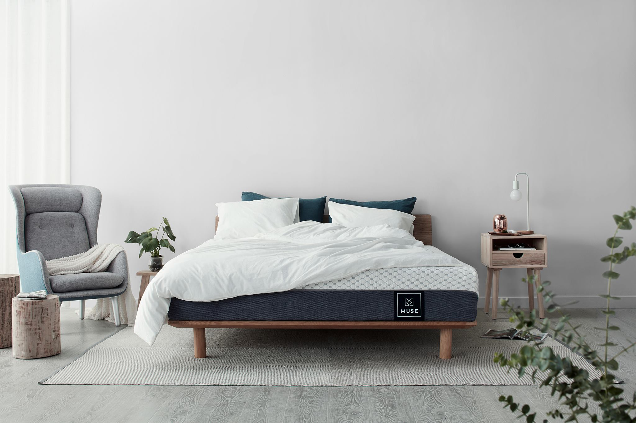 The Muse mattress in a bedroom