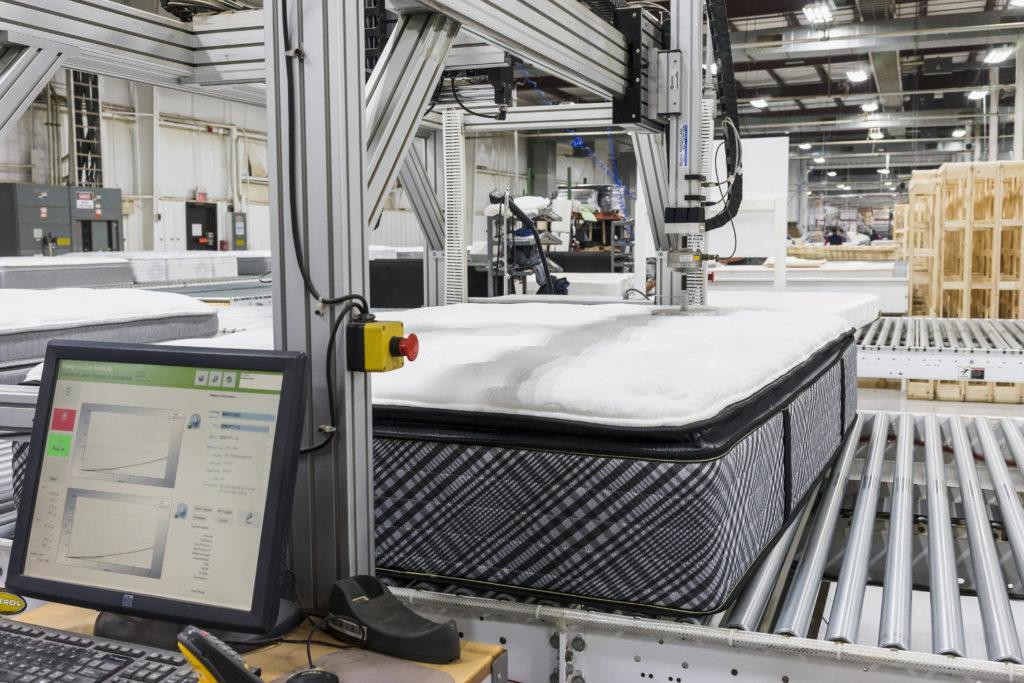 Kingsdown mattress going through testing