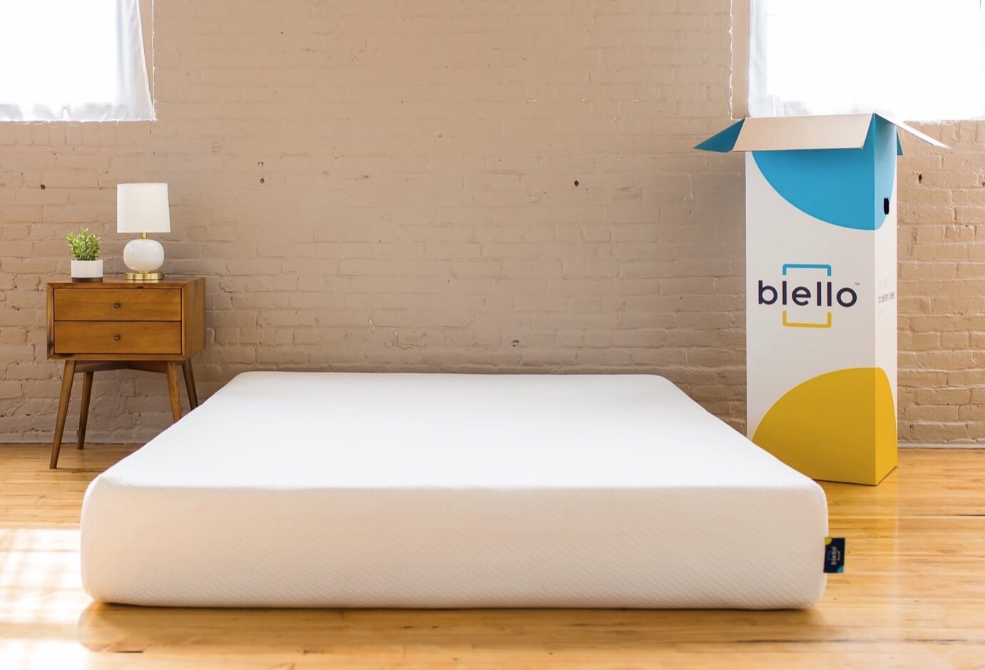 The Blello mattress in a bedroom
