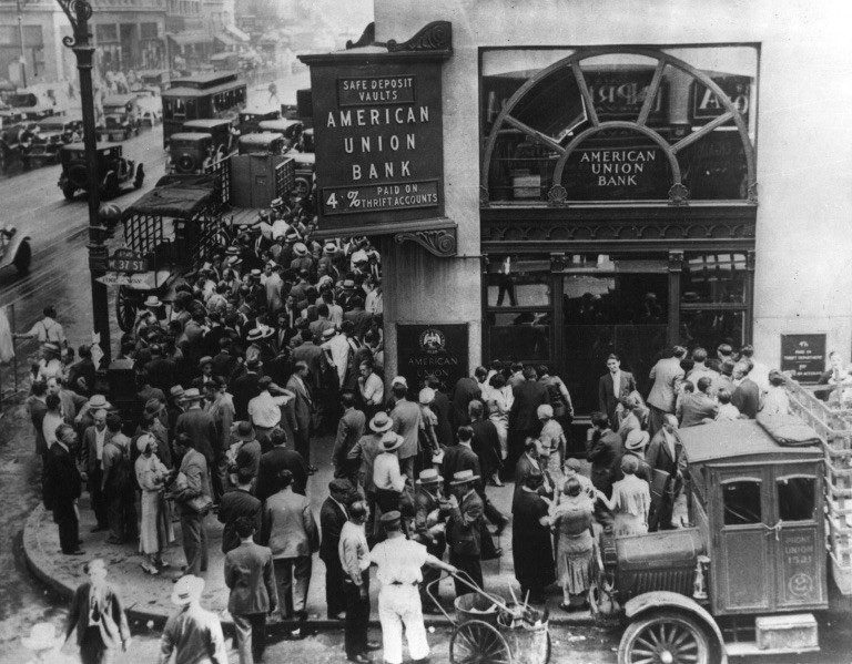 Bank run during The Great Depression