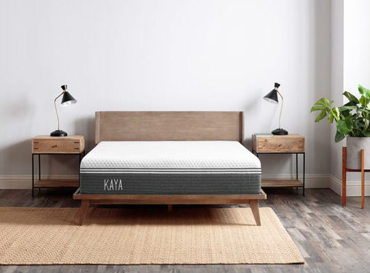 Kaya mattress in a bedroom
