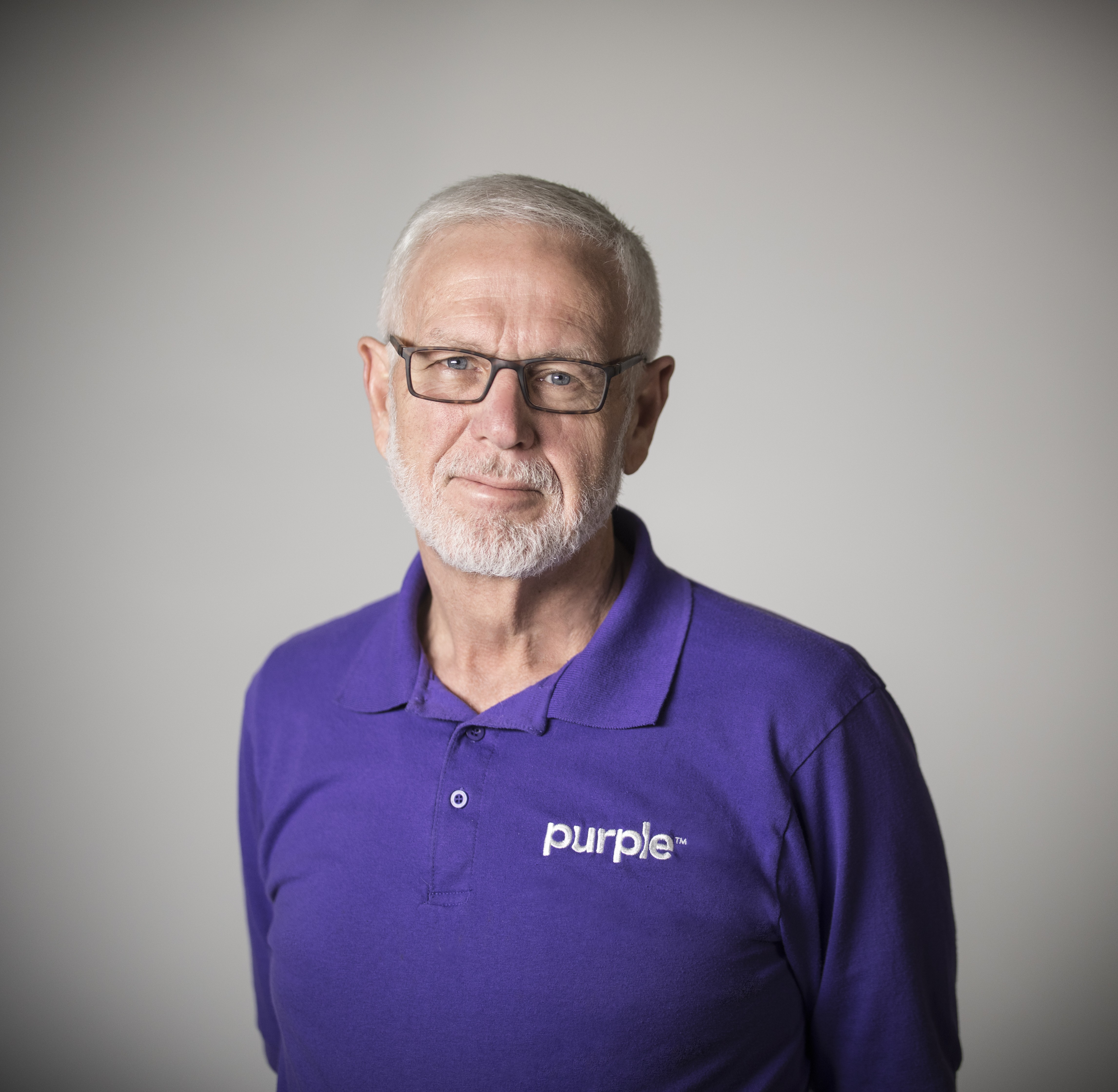 Headshot of Terry Pearce, co-founder of Purple