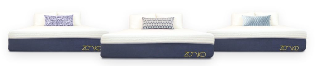 Zonkd mattress in 3 different firmness levels