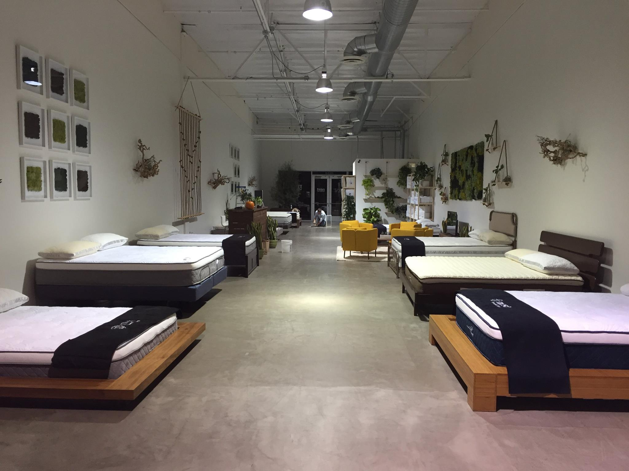 A look inside Nest Bedding's Costa Mesa retail location.