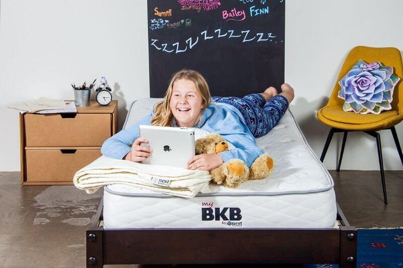 child on the BKB mattress