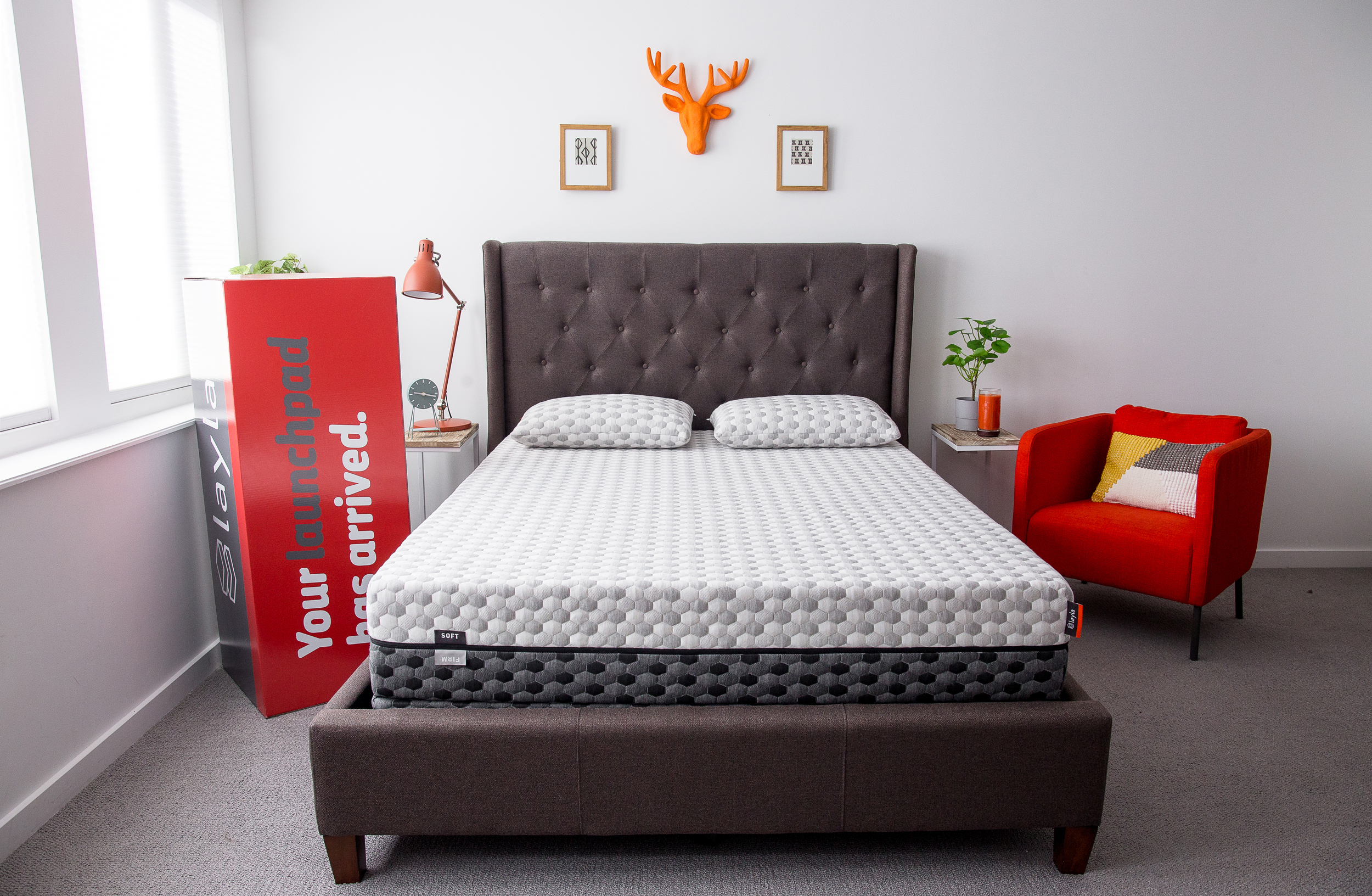 New Layla mattress in a bedroom