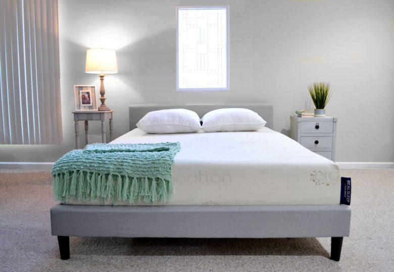 Real Sleep mattress in a bedroom