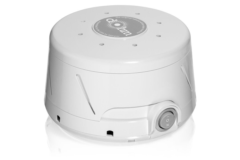 Product shot of the Marpac Dohm Classic White Noise Machine