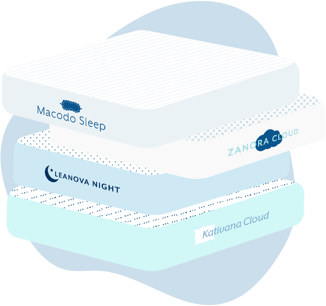 Illustration of a stack of mattresses