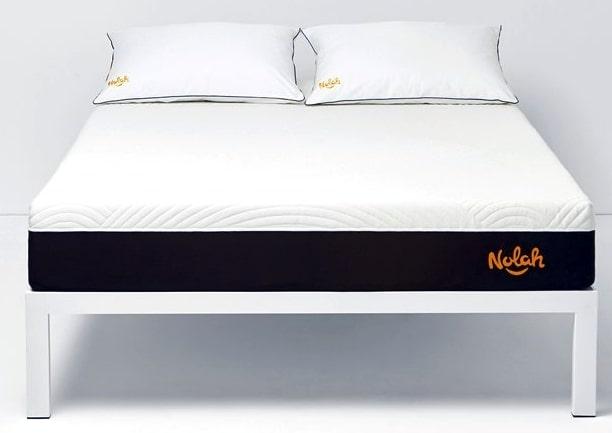 Nolah mattress on a bed frame